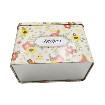 High Quality European and American Hot style Empty Rectangle Recipe Tin Box