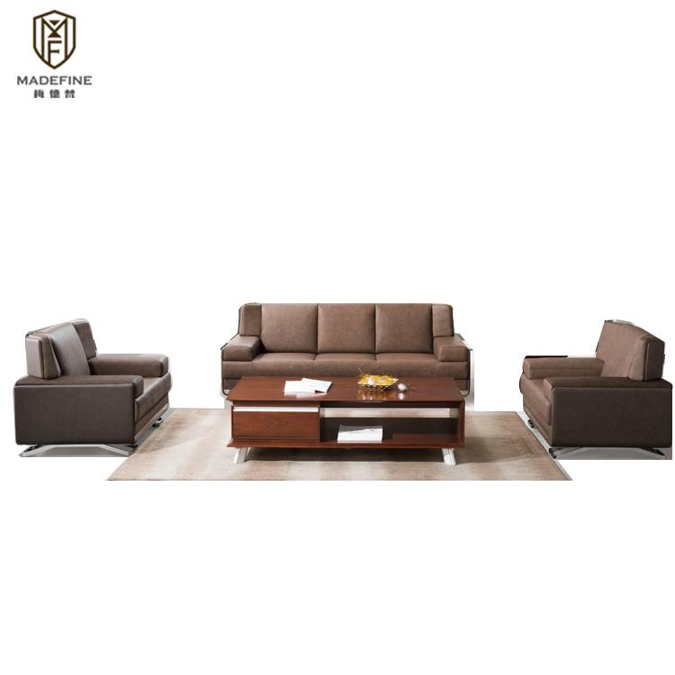 MADEFINE SF-175 Chine Foshan Meubles de luxe moderne en cuir PU bureau canapé chaise avec bon prix