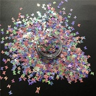Butterfly Glitter Poly Shape Sequin Variety Fluorescent Pearl Colors Butterfly Mix Glitter For Tumbler Decoration