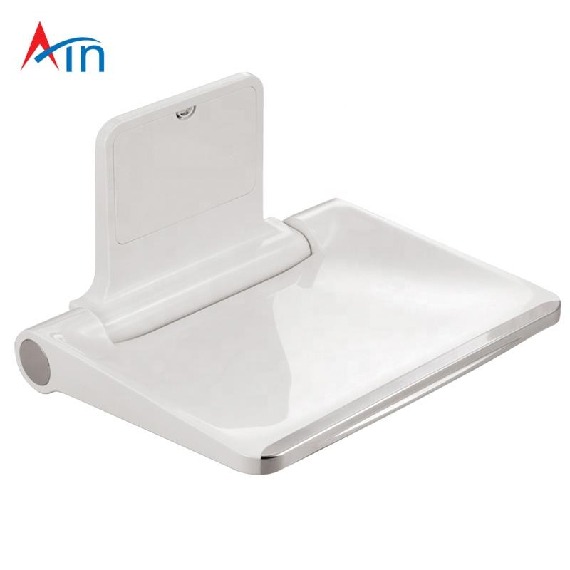 âgées blanc siège chaise Imperméable douche de personnes mur monté pour salle de Ad pliante bain EDYH2IeW9