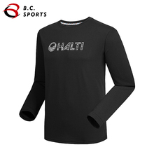 HALTI Men's Outdoor Sports Casual Round Neck Long Sleeve Breathable Cotton T-Shirt