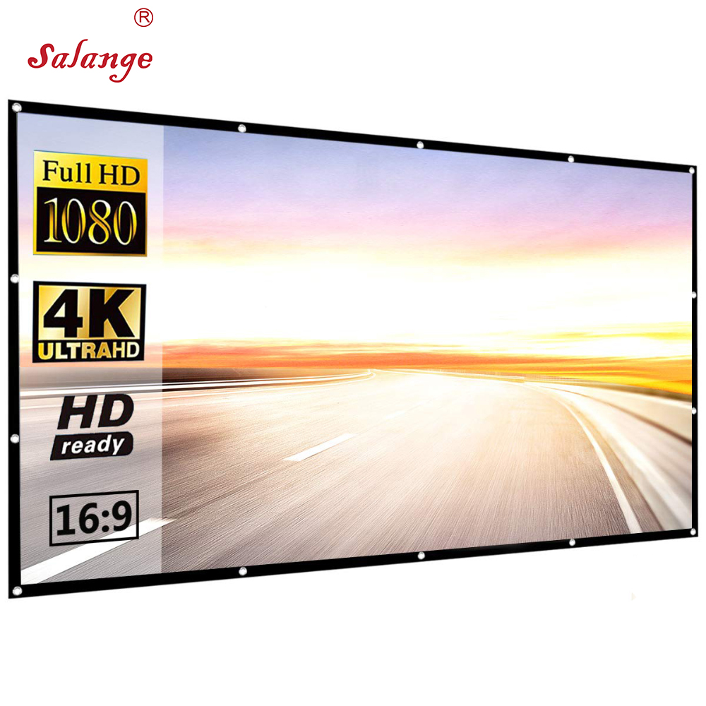 Salange 150 inch Projector Polyester <strong>Screen</strong> HD Folding Anti-Crease <strong>Portable</strong> Hologram Projection Movies <strong>Screen</strong> for Outdoor Indoor