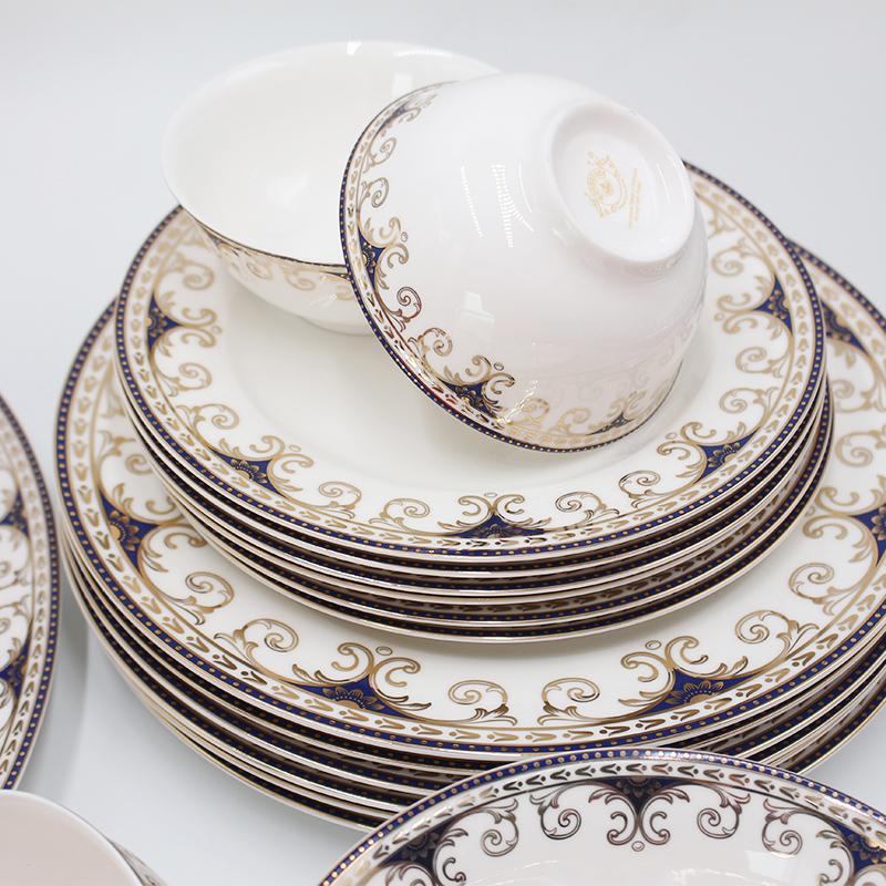 top quality 17 pcs  fine bone china ceramic tea set