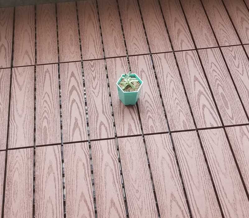Балкон напольная плитка wpc настил текстура древесины сплошной настил 300x300x22 мм древесное волокно + HDPE WPC Сделай Сам блокировки палуба плитки