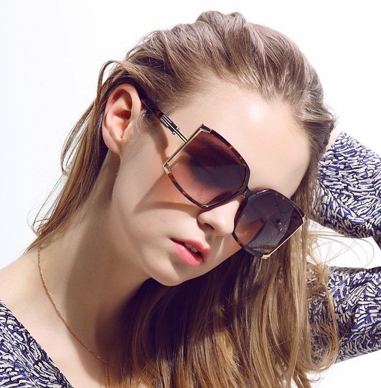 Top gold rim sunglasses for womens Supply for racing-5