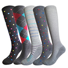 Oem custom logo assorted graduated easy slip on sports 100% cotton compression socks ladies with private label