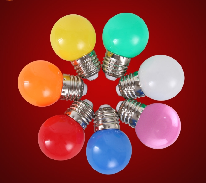 LED bulb E27 screw 3W red bulb outdoor decoration indoor atmosphere colorful lighting energy-saving lamp