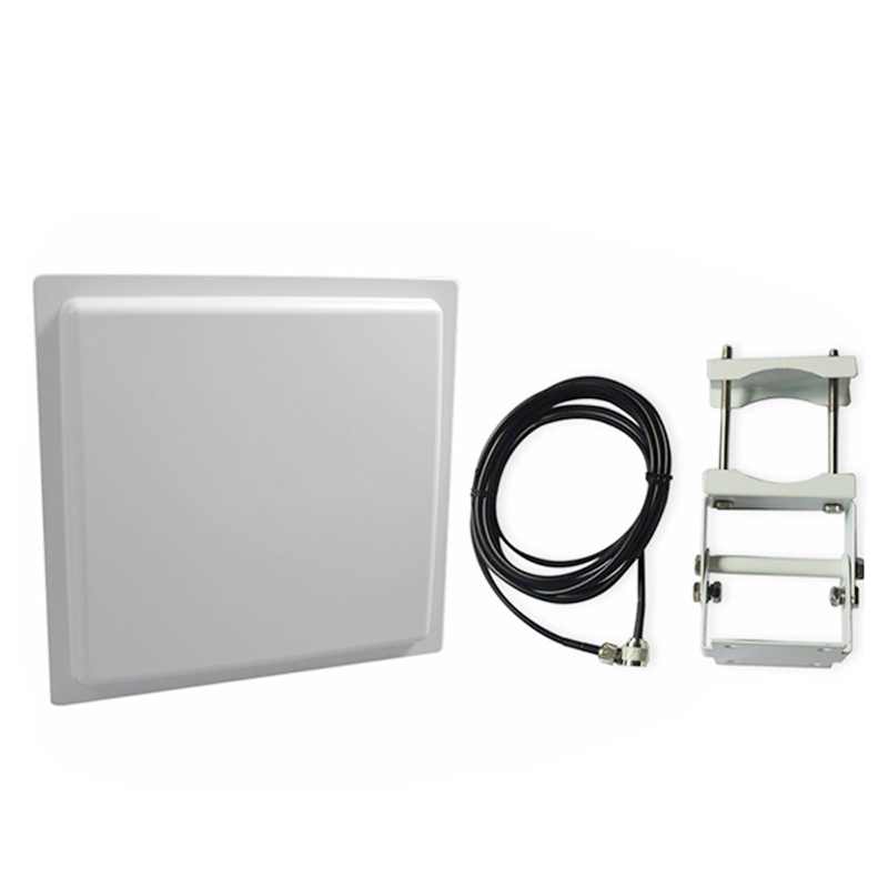 12 dBi Linear Antenna RS485/RS232 Smart Card Reader Long Range uhf rfid Integrated reader with built in antenna