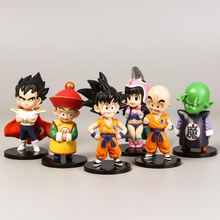 6Pcs Creative Auto Tafel Taart Decoratie Ornament Action Figure Gohan <span class=keywords><strong>Dragon</strong></span> Ballen Anime Speelgoed