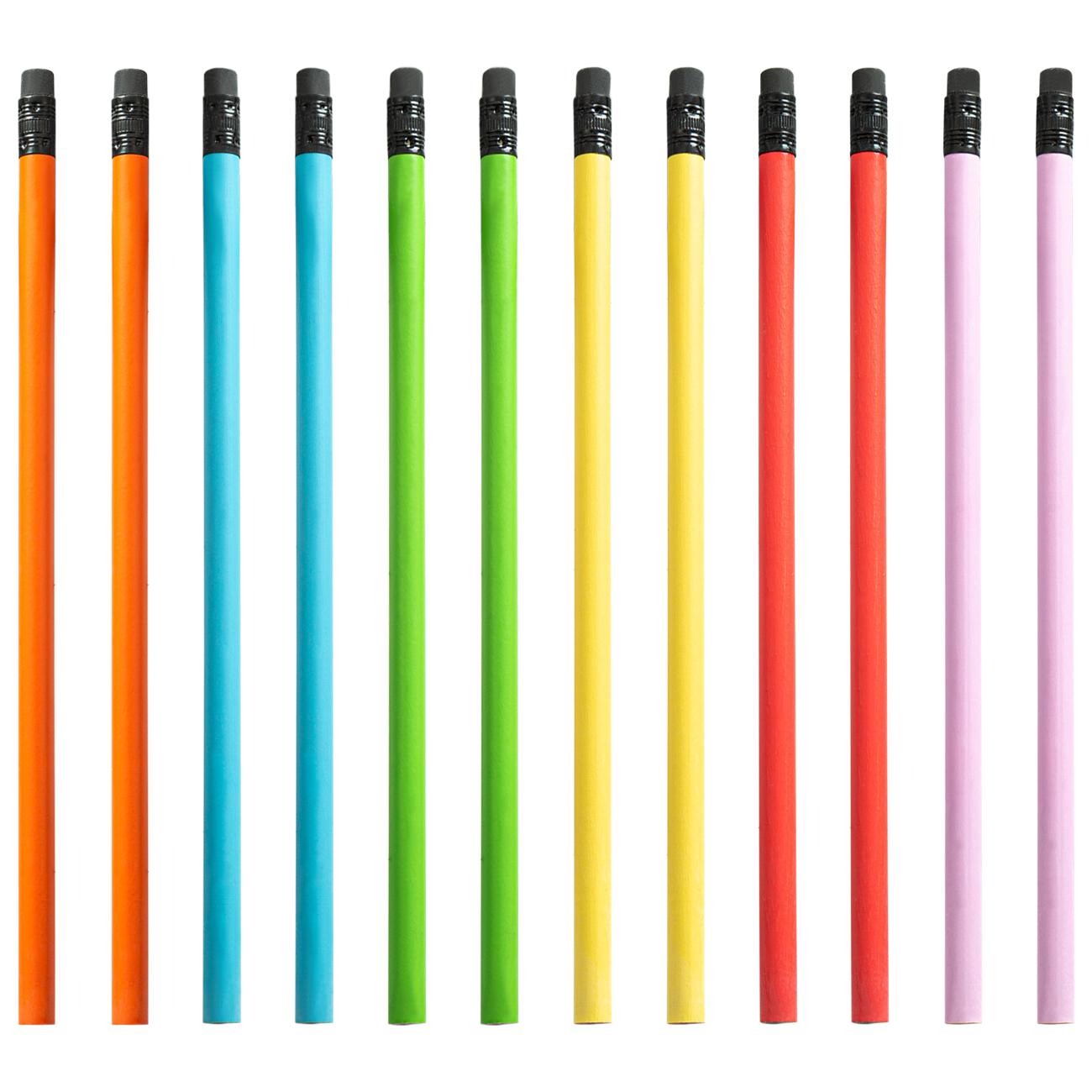 Promotion Custom logo printed pencil wooden pencil with eraser pencils with eraser