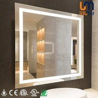 CUL ETL CE Wall Mounted Backlit LED Lighted Bathroom Mirror For Luxury Hotel