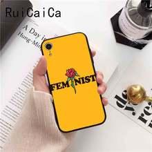 Эстетика Минимальная мощность девушки Feminist новый черный чехол для телефона iPhone 5 5Sx 6 7 7plus 8 8Plus X XS MAX XR 10 Чехол(Китай)