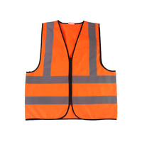 Fluorescent oem multicolor high visibility womens men high visibility reflective safety vest zipper