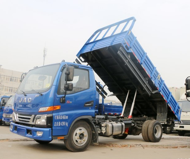 JAC 5 ton 6 wheel 6 Meters camion dump tipper truck/4x2 Drive Wheel and 116 hp Horsepower tripper truck