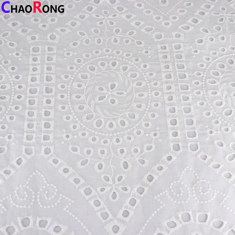 CRF0879 Brand New Eyelet Cotton Fabric With High Quality