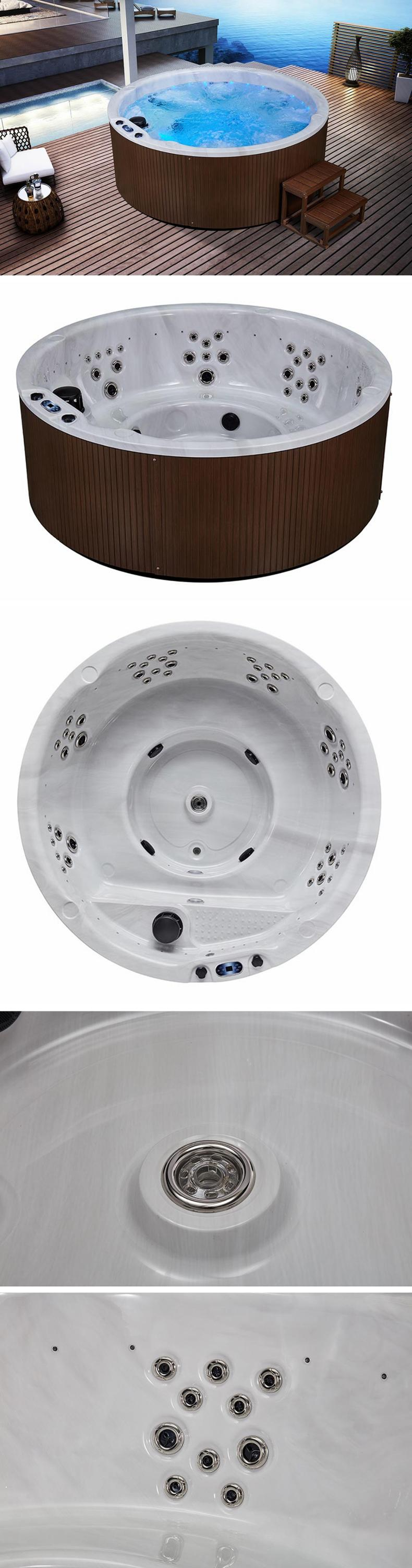 whirlpool acrylic outdoor round four person spa bathtubs