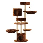Morden Cat Tree For Kittens With Sisal-Covered Scratching Posts and 2 hammock Cat accessories scratcher cat toy