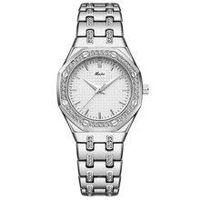 Часы MISSFOX женские, кварцевые, классические, аналоговые, с бриллиантом(China)