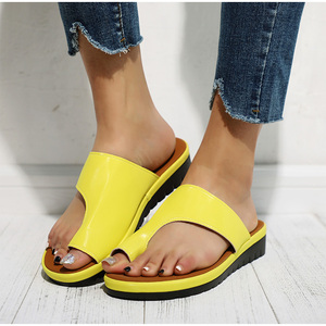 Women Sandals 2020 Sole Orthopedic Bunion Corrector Plus Size New Female Shoes Comfy Flat Slippers