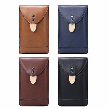 4.0-6.9 inch Fashionable men's mobile phone universal waist bag leisure sports mobile phone holster