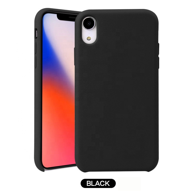 Saiboro 2019 New Arrivals Thin Slim Soft TPU Silicone black silicone back cover phone case for iphone x xr xs <strong>max</strong> 8 7 6 6s