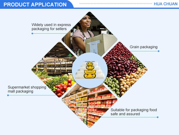 Fabrik großhandel preis nach größe ökologische supermarkt lebensmittel tasche kunststoff
