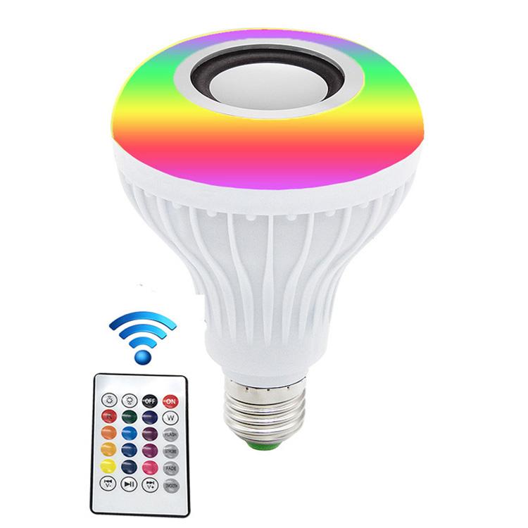 Smart home disco music bulb with remote control speaker 15W E27 RGB led bluetooth music bulb