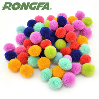 wholesale 500 Pieces 1 Inch Pompon Ball Assorted Color Pompoms Soft Toy Balls for Hobby Supplies and Creative Craft DIY Material