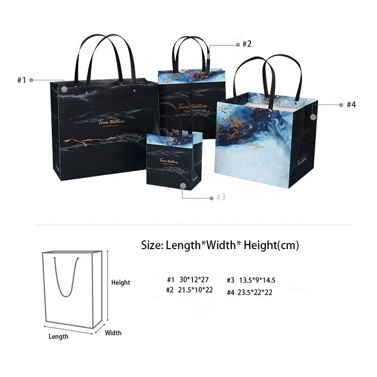 product-Biodegradable Waterproof Paper Bag Marble Design Stone Paper Bag For Shopping And Gift-Dezhe-1