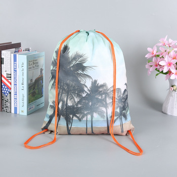 New fashion women backpack 3D printing travel softback colorful simple rucksack