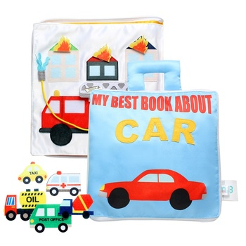 Amazon top seller soft car activites busy book quiet book for toddlers kids travel toys