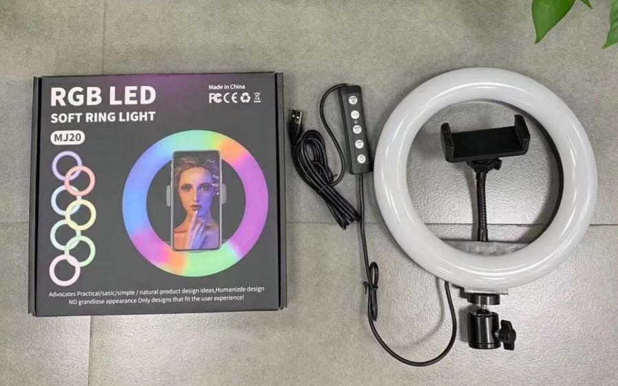 10 inch Cell Phone Led Lamp Camera Selfie Ringlight Holder led ring light with stand