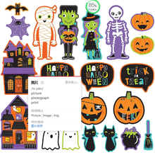 Kustom Halloween Teman Potongan Stiker Decal Tanda <span class=keywords><strong>Label</strong></span>