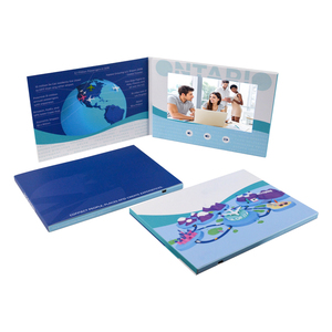 Professional wedding invitation digital lcd postcard 4.3 5 7 10 inch HD Screen Touch Invitation LCD Video Brochure
