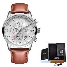 2020 LIGE мужские часы Топ люксовый бренд спортивные кварцевые часы мужские Хронограф водонепроницаемые наручные часы мужские часы из нержаве...(Китай)