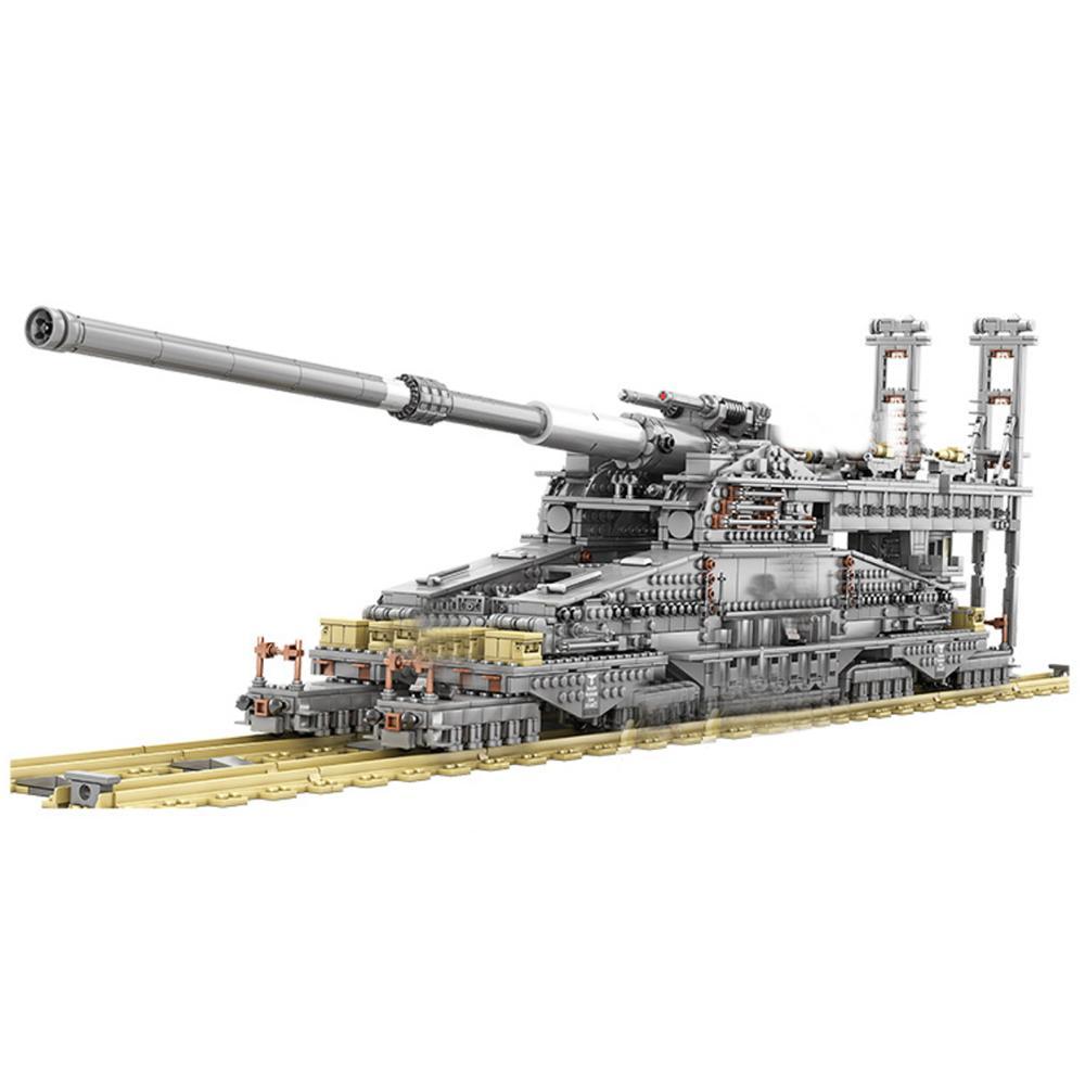 3846Pcs FAI DA TE WW2 Militare Serbatoio di Serie Modello Building Block Set Giocattolo Educativo-Dora Cannone