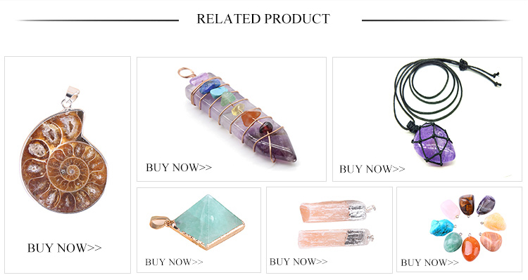 Beautiful Natural Stone Necklaces Handmade Pendants Wire Wrap Chakra Amethyst Pendant Men and Women Jewelry