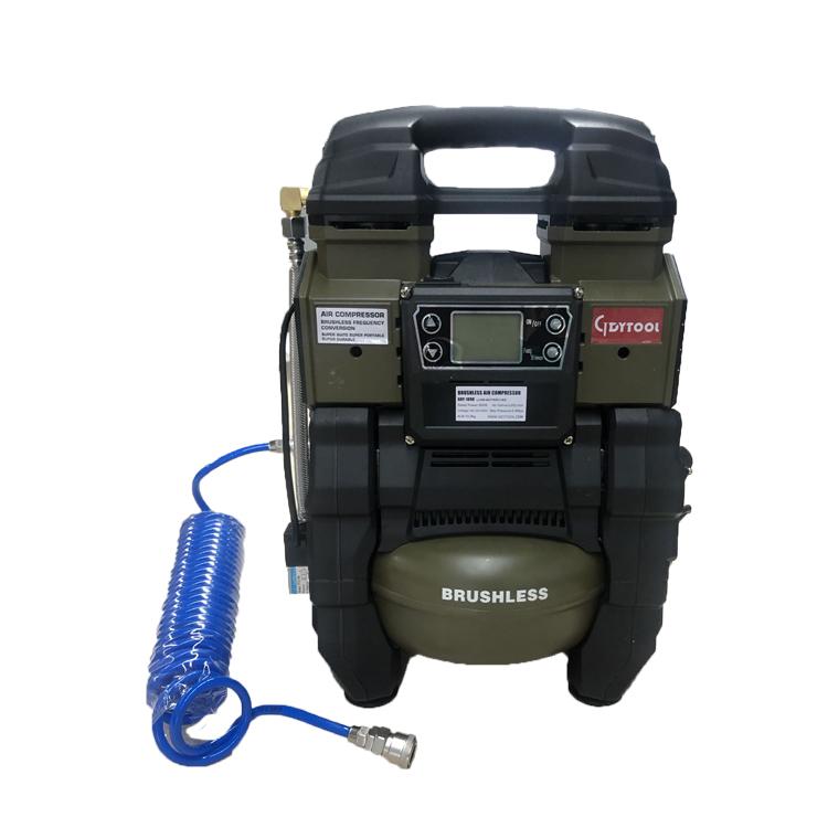 DC18v /AC220V Air compressor with 5L Tank 600W high quality Compressor oilless silent Portable brushless air compressor gdy-2090