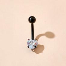 Женские кольца для пупка Tocona, сексуальные висячие кольца с прозрачными кристаллами в форме цветка, ювелирные изделия для пирсинга пупка(Китай)