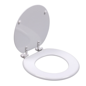 Bofan Molded Wood Disposable Bathroom European Elongated Toilet Seat With Plastic Hinges