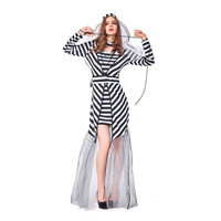 PoeticExst Prisoner Festival Clothing Cosplay Gauze Halloween Costume for Women