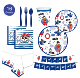 Pirate Birthday Party Supplies Beautiful Party Decors Disposable Tableware -Serves 16