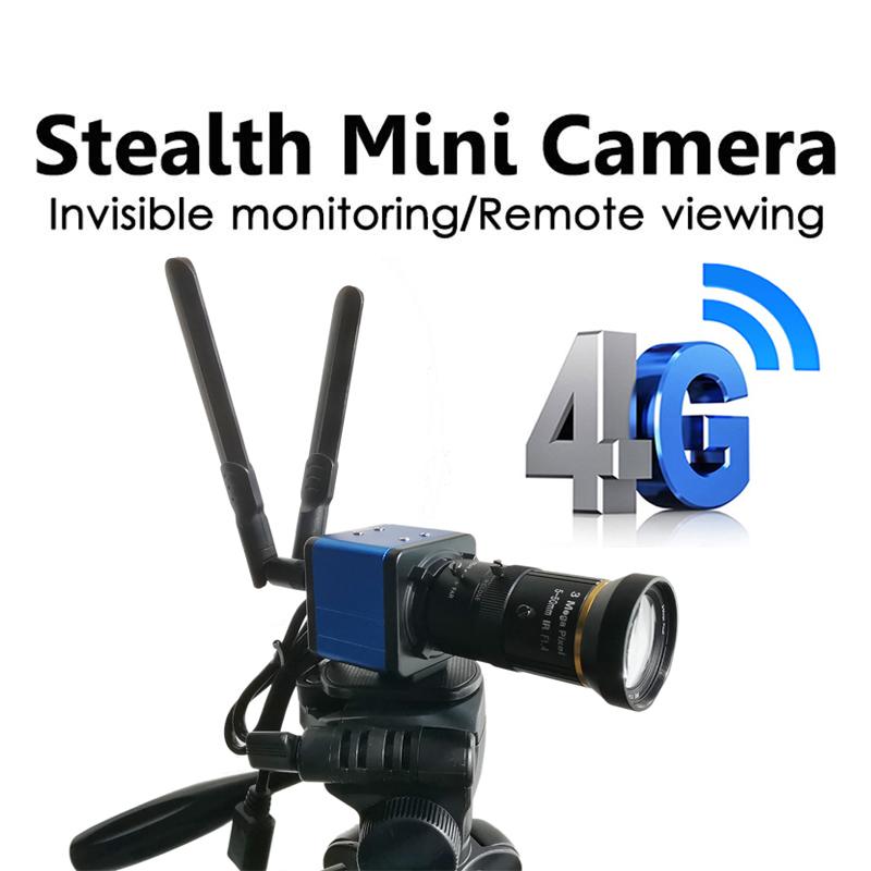 3G 4G box camera live streaming SIM IP Camera SD Card 4G SIM Card CCTV security Move tripod to secure With I-CS Lens