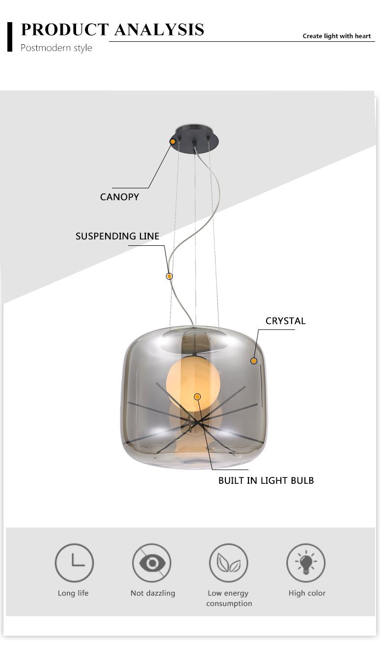 AC110V-240V Hanger Verlichting Kroonluchter Moderne Hanglamp