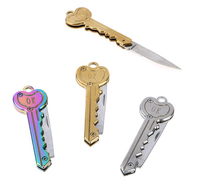 Hispec Mini Pocket Knife Folding Key Knife with Keychain in Multi Colors