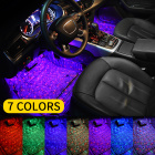 Car styling Interior Dash Floor Foot Decoration Lights Lamp LED Atmosphere Bulbs Voice control Lighting With USB Connector