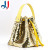 Drawstring Sequin Bling Candy Gift Pouch Bag Jewelry Bag with Leather Handle