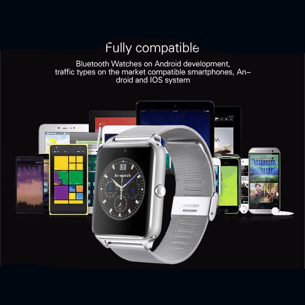 2019 New Stainless Steel Smartwatch Z60 With Blue Tooth