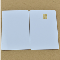 ISO7816 13.56mhz Magnetic Stripe Blank Card With SEL 4442 Chip