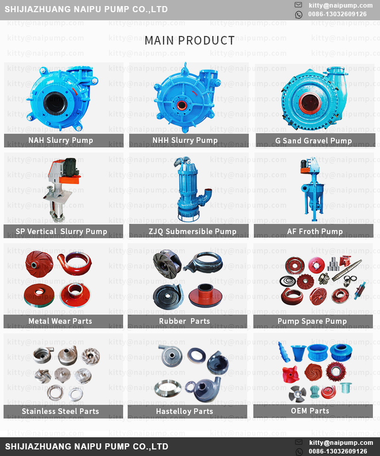 3/2 D-NHH High Pressure Slurry Pumps for Flue Gas Desulfurization